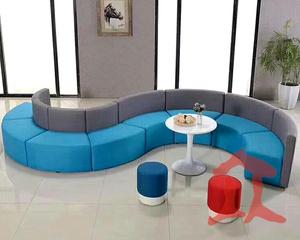 玻璃钢S型商场休闲椅