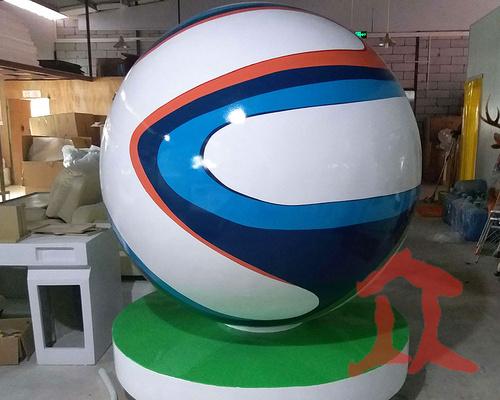 玻璃钢圆球雕塑造型