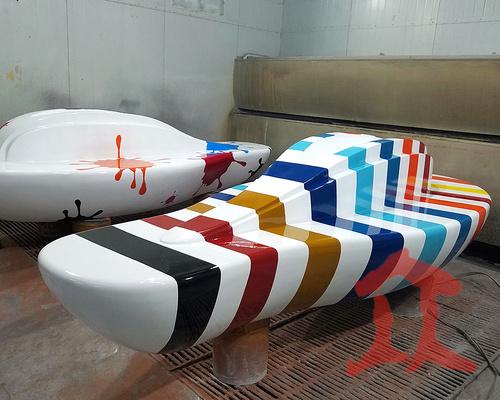 990990彩绘商场休闲椅
